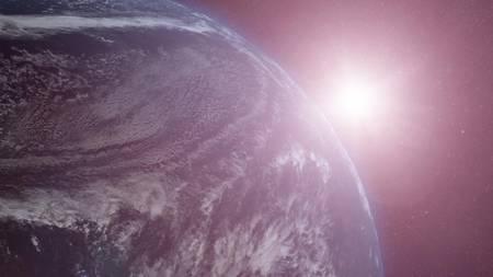 Environ 30 % moins lumineux qu'aujourd'hui, le Soleil produisait de fréquentes éruptions dans sa jeunesse, capables de dévaster l'atmosphère de la Terre primitive. Le bouclier magnétique a cependant bien résisté à la violence du vent solaire. © Nasa, GSFC, CIL