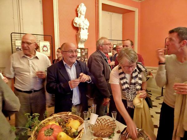 Le vernissage des différentes expositions relatives au 900ème anniversaire de la fondation de l'abbaye de Clairvaux par saint Bernard