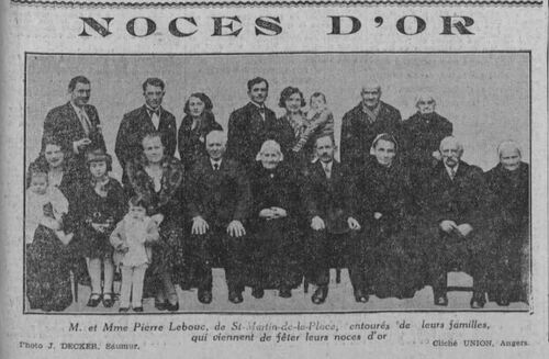 Noces d'or en Anjou, en 1934