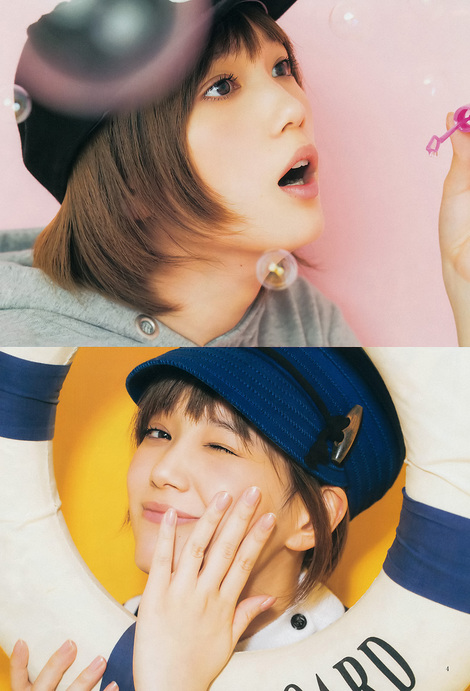 Gravure idol session : ( [Young Jump] - 2015 / N°2 - Tsubasa Honda & Maaya Uchida Staring )