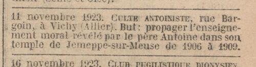 Vichy - Journal officiel de la République française. Lois et décrets 11 nov. 1923