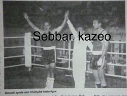 DAHMOUCHE Merzak Champion Arabe avec un K.O expéditif