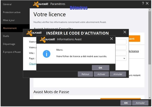 Avast Internet Security 2016 - Licence 1 an gratuit