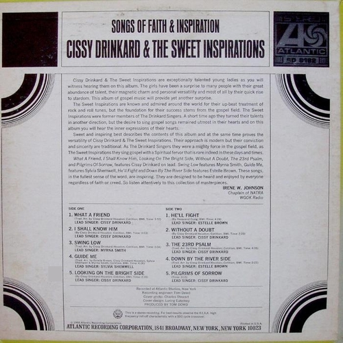 "Cissy Drinkard & The Sweet Inspirations : Album "" Songs Of Faith & Inspiration ""Atlantic Records SD 8182 [ US ]"