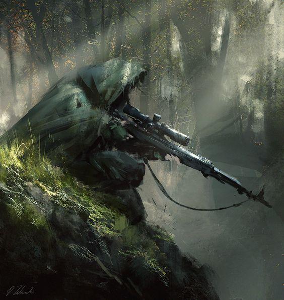 ArtStation - Sniper ambush, Darek Zabrocki: