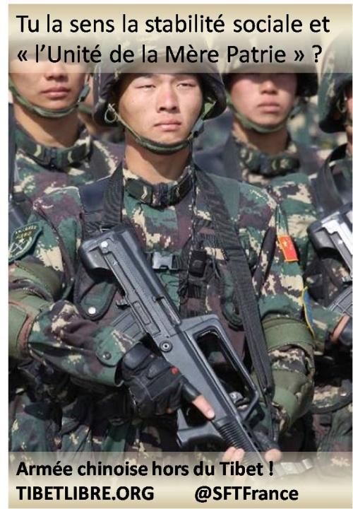 Armée chinoise hors du Tibet !
