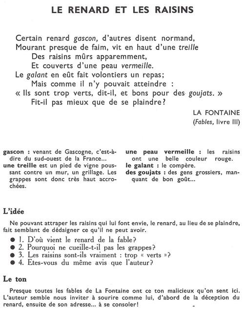 La Fontaine - Le Renard et les Raisins