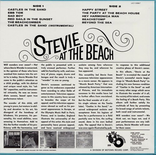 "Stevie Wonder : Album "" Stevie At The Beach "" Tamla Records TM 255 [ US ]"