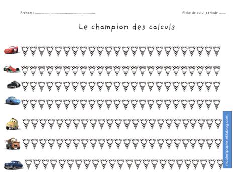 Drill de calculs : le champion des calculs