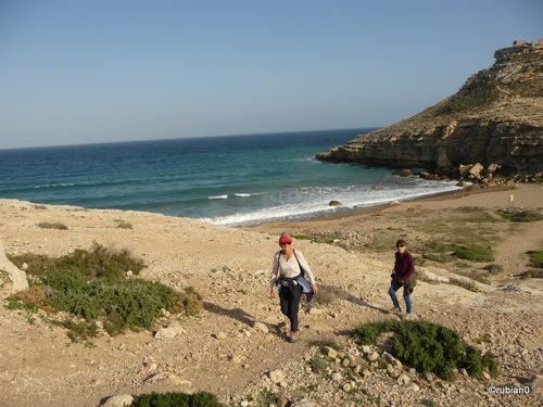 La plage du camping avant Las Negras, cest l'embouchure de la Rambla del Cuervo