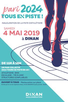 INAUGURATION DE LA PISTE D'ATHLÉTISME SAMEDI 4 MAI 2019