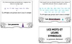 Flipbook des symboles de grammaire Montessori