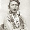 Sits Down Spotted. Crow. Fort Keogh, Montana, 1881. Photo by L.A. Huffman.