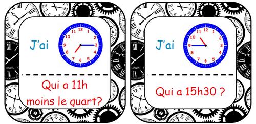 Qui a.... ? Apprendre à lire l'heure en CE1/CE2