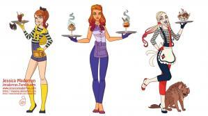 Jessica madorran character design dc 50s style group b 2019 artstation01