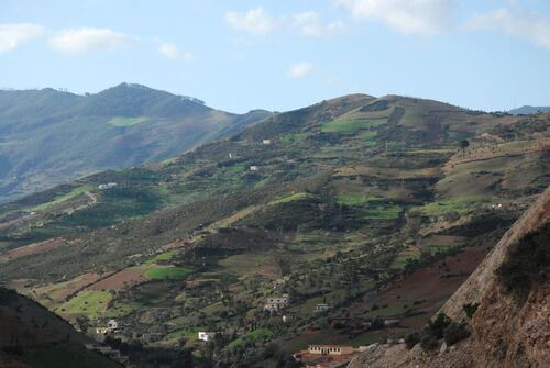 Des collines verdoyantes piquetées de maisons