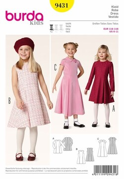 robe patron burda kids 9431