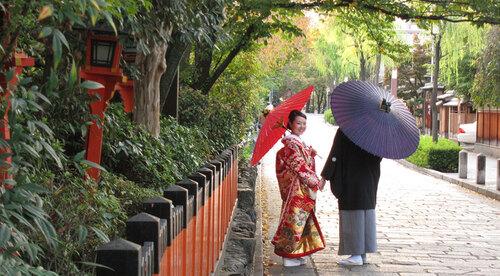 Entre traditions nippones et occidentales, retracez l'évolution du mariage japonais du IXe siècle à nos jours