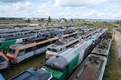 Cimetière de locos de Sotteville-les-Rouen!