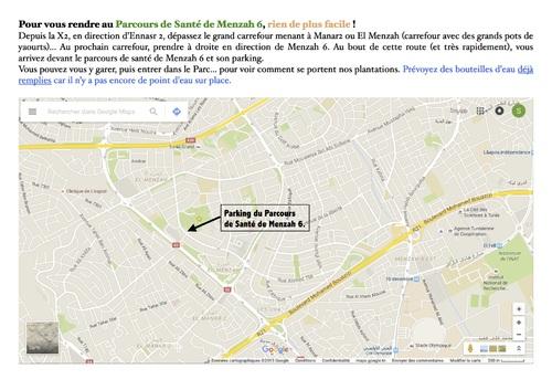 Parcours de Santé Menzah 6 : pensez à aller arroser les plantations !