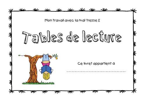 Tables de lecture