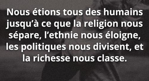 Citation: ..des humains...