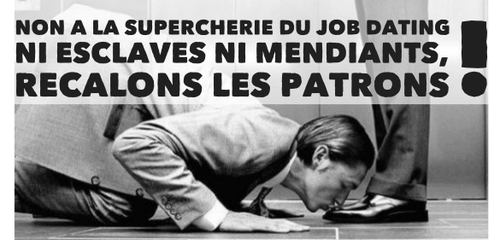 NON A LA SUPERCHERIE DU JOB DATING !
