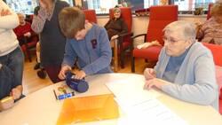 Visite des résidents de la maison de retraite