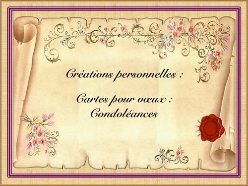 """*Empreintes du coeur * Condoléances """""""