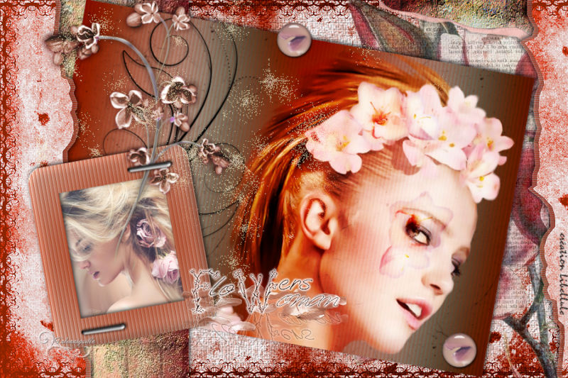 *** Flowers Woman *** tuto-scrap