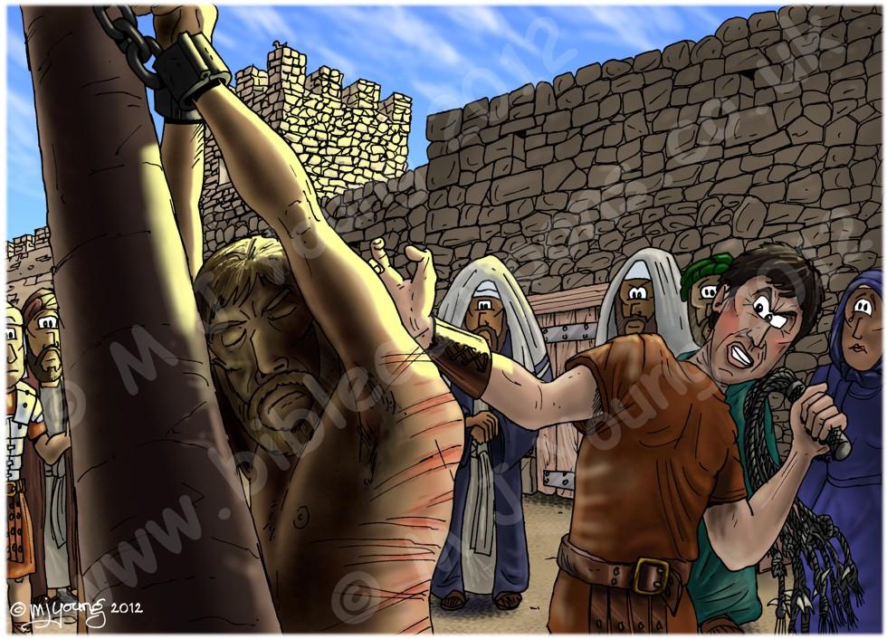 Mark 15 - Trial of Jesus - Scene 07 - Jesus flogged