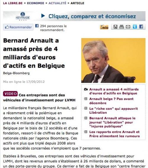 Chasse au gros en Belgique : le PTB débusque Bernard Arnaud
