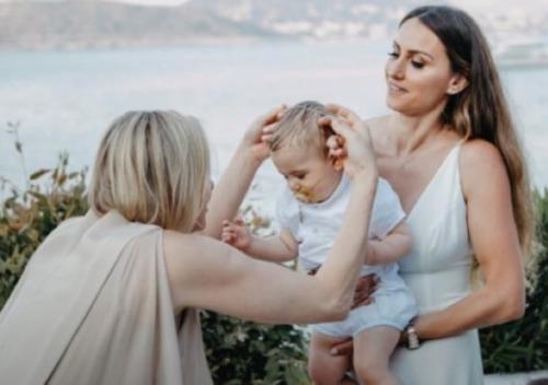 Charlène en Grèce pour le baptême de Leo Fiotakis