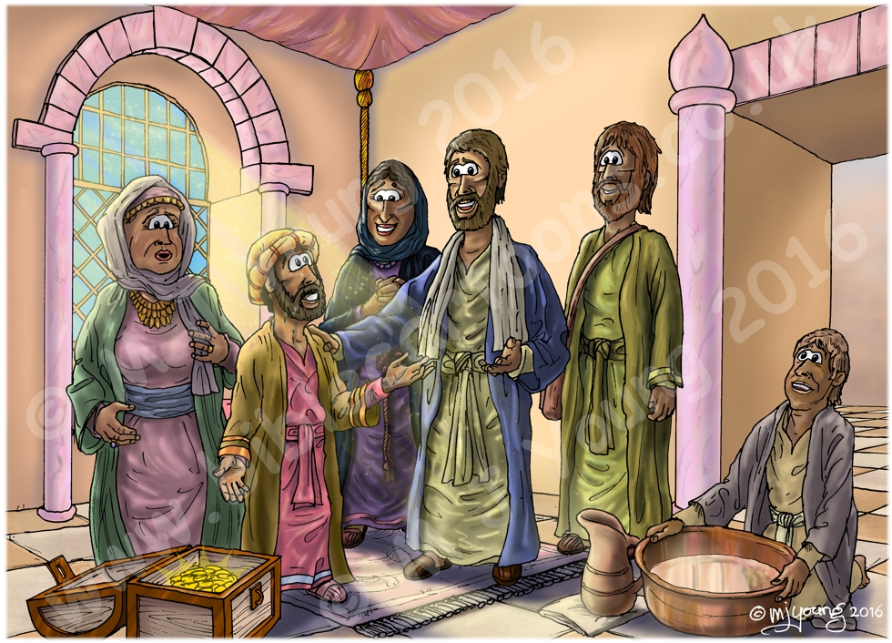 Luke 19 - Zacchaeus the tax collector - Scene 07 - Salvation has come (Version 01) 980x706px col