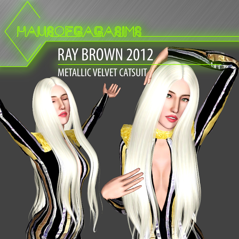 RAY BROWN 2012 METALLIC VELVET CATSUIT