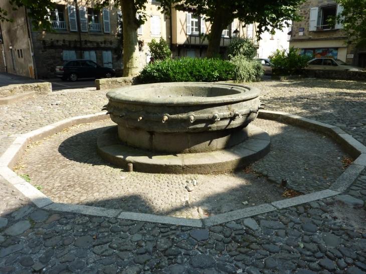 Aurillac  - Fontaine du XIIème siècle