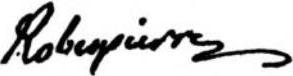 Signature de Maximilien de Robespierre
