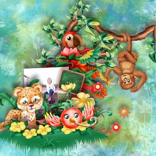 Jungle birthday party de Kastagnette