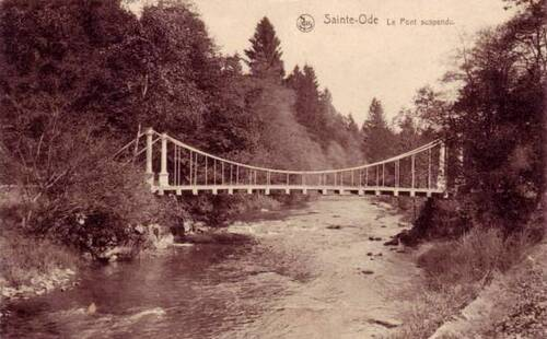Pont suspendu : ancien pont sur l'Ourthe occidentale