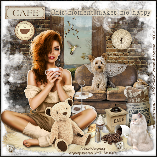 Tutoriel Scrap de Mumu1718 - Coffee Romance