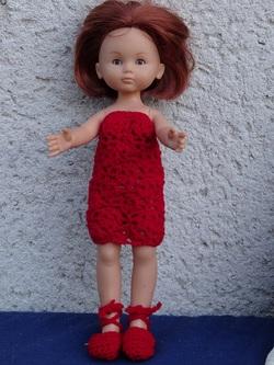 Fiche gratuite vêtements de poupée N° 202: robe au crochet