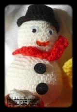 cal fetons noel, bonhomme de neige