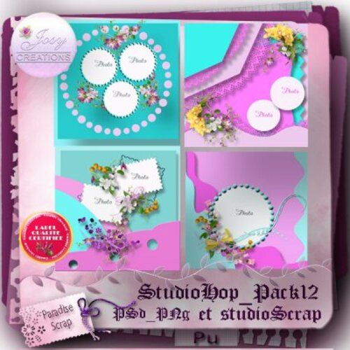TEMPLATES PACKS 12 DE JOSYCREATIONS