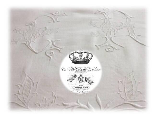 Rideau en coton ancien et lin