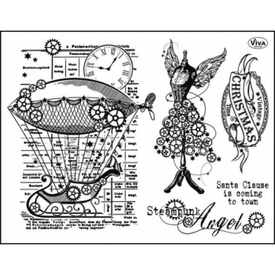 Viva Decor Silicone Stamp: Steampunk Angel