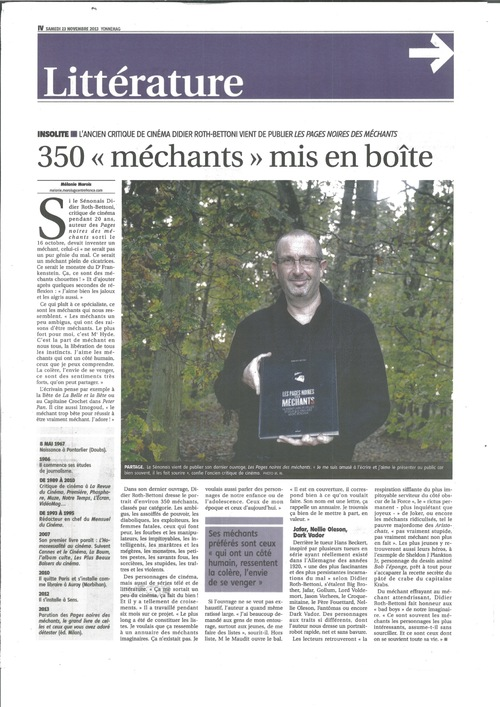 Encore un long article sur Les Méchants...