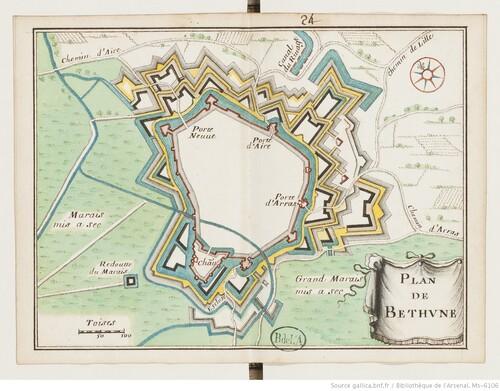 Trente-huit plans de places fortes - Béthune (XVIIIe s)(gallica)