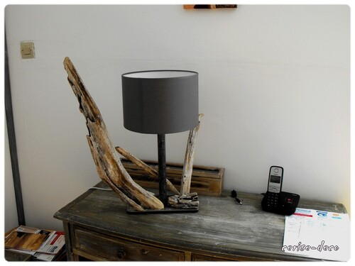 mes lampes en bois flottés