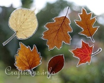 Autumn Leaves Window Decoration