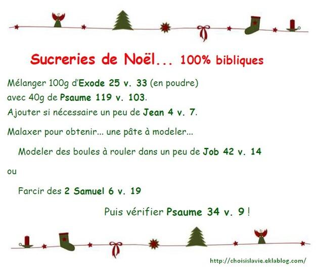 Sucreries de Noël 100% bibliques